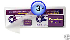 Bookmark Laminating Pouches 2-1/2 x 7-3/4 Hot 3 Mil (100) Clear by OregonLam