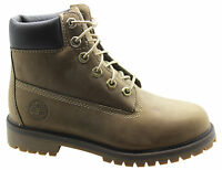 Timberland 6 Inch Premium Juniors Boots Boys Kids Lace Up Brown 20903 T2D