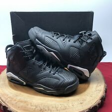 Nike Air Jordan Retro VI Black Cat 3M Size 6.5y 384665 020 VII I III IV XI XII