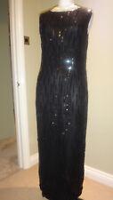 Stunning Vintage Sudi Beaded & Sequinned Evening Dress Size L 12-14