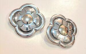 James Avery 14k & SS Flower Cross Retired Earrings