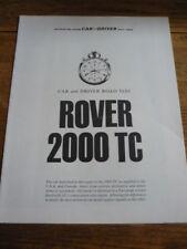 ROVER 2000 TC ROAD TEST BROCHURE