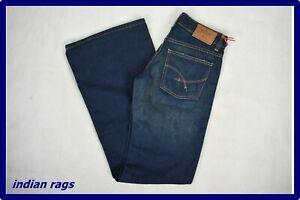 Jeans uomo a zampa donna vita bassa larghi gamba larga dritta svasato 40 w26