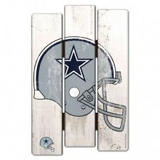 "Dallas Cowboys Wood Fence Sign 11""x17""  [NEW] NFL Wall Man Cave Fan Wall Wooden"