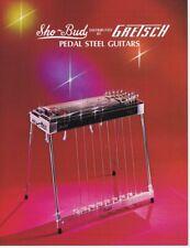 ORIGINAL Vintage 1975 Gretsch Sho Bud Steel Guitars Catalog