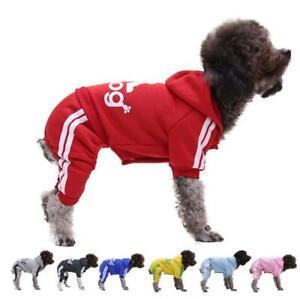 Small Bread Comfortable Soft 4 Leg Adidog Print Hoodie Pet Clothes Warm Dog Coat
