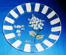 Decoartive Hand Painted Glass  Floral Plate (New)