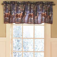 Valance For Bathroom Window Whitetail Deer Primitive Rustic Bedroom Decor Idea