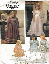 Vintage Dress Three Lengths Pattern Girl Child's Size 6 Little Vogue 1272  OOP
