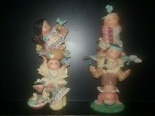 Enesco Friends Of The Feather Brave Support; Sister Act Totem Poles Set