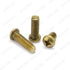 M2 M2.5 M3 M4 M5 M6 M8 Solid Brass Phillips Cross Pan Head Machine Screws Bolt