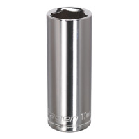 "S0595 Siegen WallDrive® Socket 17mm Deep 3/8""Sq Drive [Sockets Individual]"