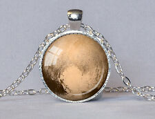 PLANET PLUTO PENDANT Planet Jewelry Pluto Necklace Orange