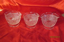 3 Vintage Glass Candle Stick Holders