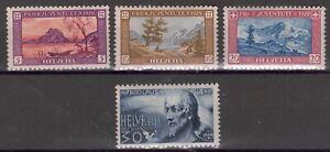 Switzerland - 1929 Pro Juventute, Landscapes & NiKolaus von Flue