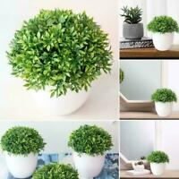 Artificial Plant Bonsai Pot Plants Fake Flowers Ornaments Garden Decor I3Q6