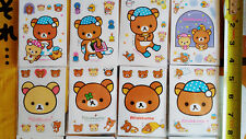 "*Party Favors* 4"" Loose SAN-X RILAKKUMA PVC 8 Sheets Sticker set #1"