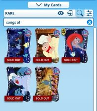 Disney Collect Topps Digital The Little Mermaid - Songs Of. full Set w/awards