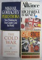 The Cold War History Space Race NATO Gorbachev Perestroika 4 Book Lot