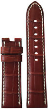 24x22 XL RIOS1931 for Panatime Mahogany Alligator Watch Strap for Panerai Deploy