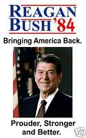 Ronald Reagan Campaign Poster Reprint USA 1984 Bush Reagan 11 x 17 Poster Photo