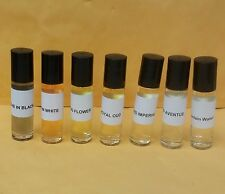 7 pcs Creed Perfume Oil for WOMEN & MEN 1/3 oz Rollon Bottle AVENTUS - ROYAL OUD