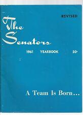 Original   1961 Washington Senators Yearbook Revised Ed   Excellent condition