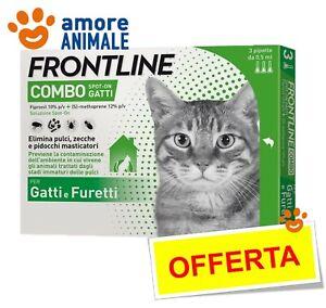 Frontline Combo Gatto - 3 pipette - Antiparassitario Antizecche Antipulci Gatti