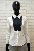 ROCHMOND Donna Camicia Camicetta Taglia XS Maglia T-Shirt Elastica Woman Bianco