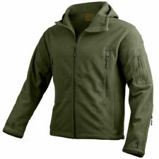Highlander Mission Fleece Jacket Outdoor Hiking Warm Camping Hooded Mens Olive M