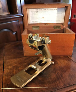 ANTIQUE JOHN HAND & SONS SHIPS AZIMUTH SEXTANT COMPASS NAVIGATION TOOL IN CASE