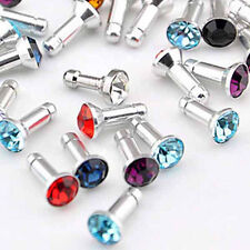 100X 3.5mm Bling Earphone Jack Anti Dust Plug Cap Stopper For iphone Samsung HTC