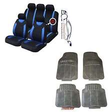 CARNABY BLUE CAR SEAT COVERS + RUBBER FLOOR MATS Renault Clio Twingo Megane Zoe