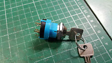 LORLIN ROTARY SWITCH WITH KEY 3 POSITION 2 POLE 3 POSITION KEY OPERATED SWITCH