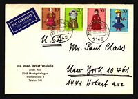 Germany Mi 571 - 574 On Cover - Z15642