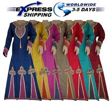 Islamic Egyptian Cotton Abaya Isdal Jilbab Dress Kaftan Muslim Galabya Hijab