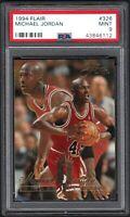 1994-95 Flair Gold #326 MICHAEL JORDAN Gold-Chicago Bulls PSA 9 MINT