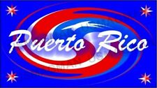 fridge magnets Puerto Rico Swirl Flag Country Aprox 3.5 X 2.5 in. Laminated