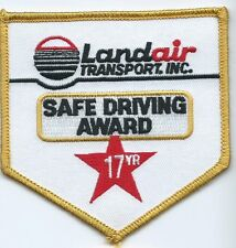 Landair Transportation Inc 17 year safe driving award driver patch 3-3/4 X 3-5/8