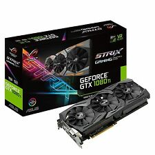Asus nVidia GeForce GTX 1080 Ti ROG Strix 11GB GDDR5X Video Card Gaming Graphics