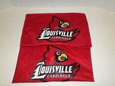 Ul University Of Louisville Cardinals Red Pillow Sham Set Of 2 Nice