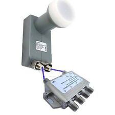KU BAND LNB QUAD LINEAR FTA FREE TO AIR SATELLITE LNBF