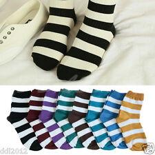 New Fashion Unique Women and Girls Stripe Lovely Cotton Warm Socks Popular
