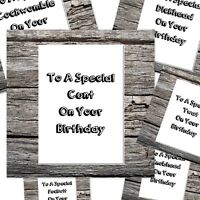 funny rude happy birthday card can be personalised to special c*nt etc 6 designs