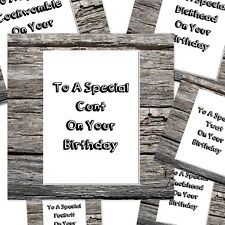 funny rude happy birthday card can be  to special c*nt etc 6 designs