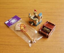 LOT OF 4 UNUSED DOLLSHOUSE 12TH SCALE TOYS- FORT, HOBBY-HORSE, ENGINE, TOYCHEST