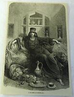 1882 magazine engraving ~ A BAYADERE, OR DANCING GIRL, India