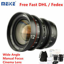 Meike 12mm T2.2 Wide Angle Manual Focus Cinema Lens for Olympus Panasonic M43