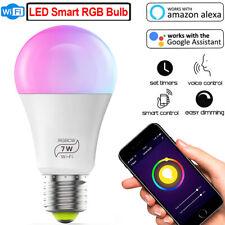 LED Smart bulb 7W E27 Wifi Smart LED Light Bulb Compatible with Alexa and Google