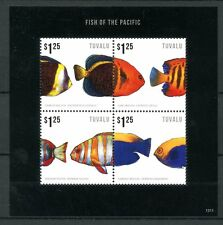 Tuvalu 2013 MNH Fish of Pacific 4v MS II Marine Angelfish Tuskfish Fishes Stamps